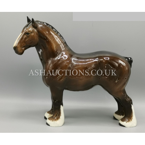 5A - BESWICK Extra Large 27.8cm MODEL OF A SHIRE HORSE