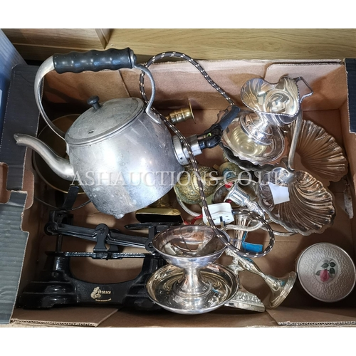 14 - BOX CONTAINING A Large Qty Of BRASS And METAL ITEMS (Please Note This Lot Will NOT Be POSTED!!! ,Pic...