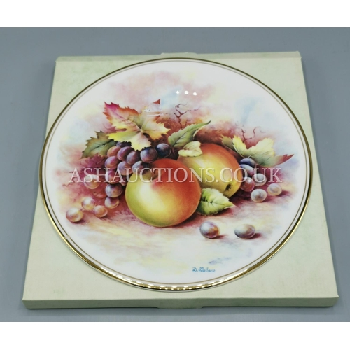 46 - ROYAL VALE CHINA FRUIT PLATE (Signed By Artist D.Wallace)...
