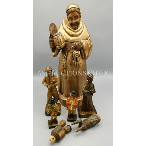 47 - WOODEN FIGURINES (Qty Of) (Please Note This Lot Will NOT Be POSTED!!! ,Pick Up ONLY !!!!!)...