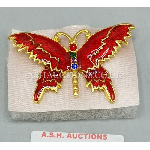 97 - METAL/ENAMEL BROOCH IN THE FORM OF A BUTTERFLY...