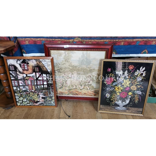 16 - TAPESTRY FIREGUARD Together With PICTURES (2) (Please Note This Lot Will NOT Be POSTED!!! ,Pick Up O...