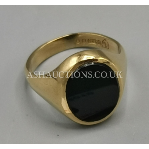 9 - PRESENTED AS A 9ct GOLD (375) GENTS SIGNET RING ( Weight 6 Grams )...