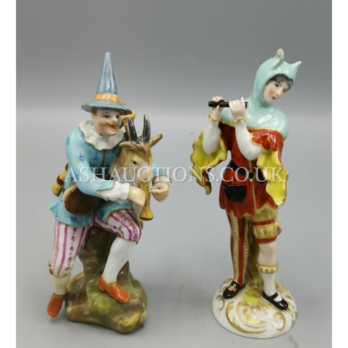 60H - CARL THIEME MEISSEN FIGURINE & Possibly SAMSON FIGURINE...