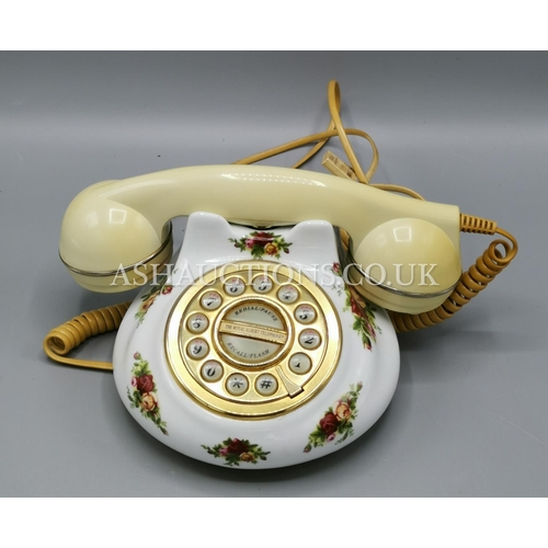 62 - ROYAL ALBERT TELEPHONE IN THE OLD COUNTRY ROSES DESIGN...