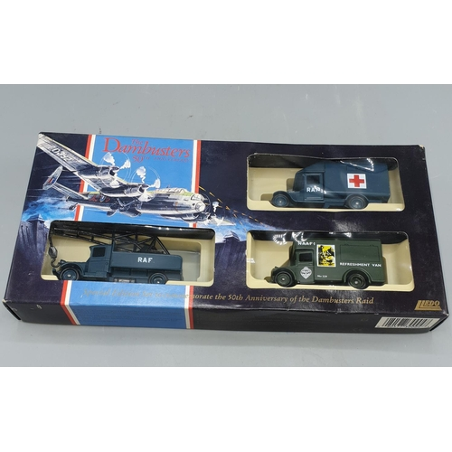 80 - LLEDO DIE CAST MODEL (Boxed Set) TO COMMEMORATE THE 'DAMBUSTERS' 50TH ANNIVERSARY. Includes 5-TON CR...