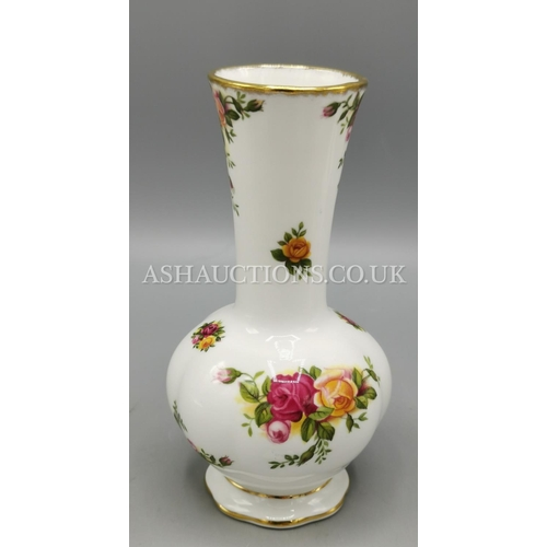 85 - ROYAL ALBERT CHINA VASE IN THE OLD COUNTRY ROSES DESIGN...