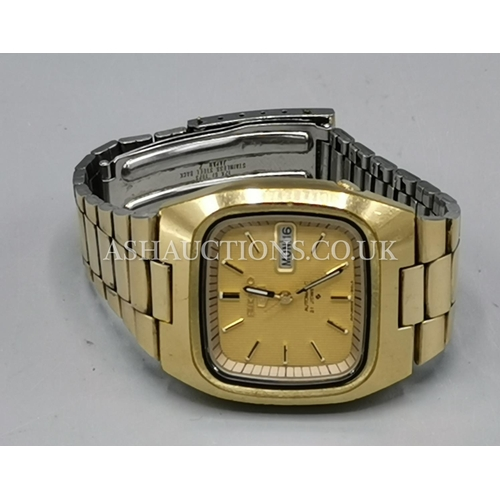 87 - PRESENTED AS A SEIKO 21 JEWELS DAY/DATE GENTS WRISTWATCH...