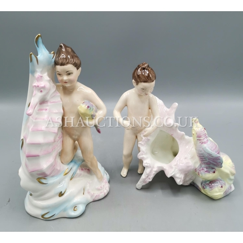 11 - KEVIN FRANCIS/PEGGY DAVIES CERAMICS CHARACTER FIGURINES (2)