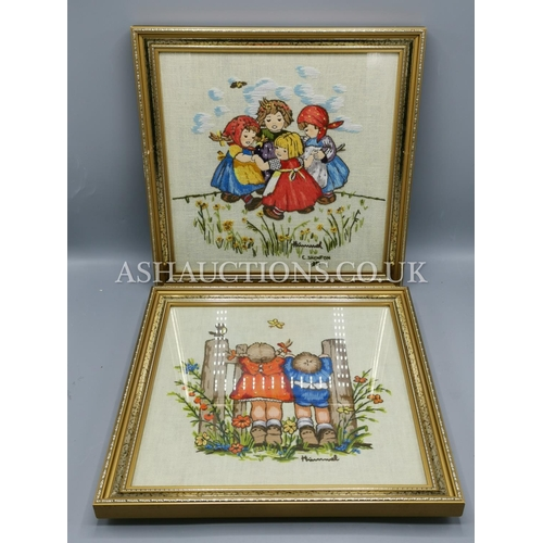 14 - HUMMEL CHILDS TAPESTRY PICTURES (2) (Please Note This Lot WILL NOT BE POSTED...PICK UP ONLY!!!)...