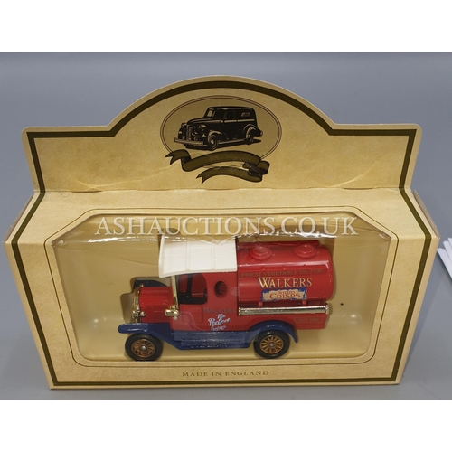 35A - LLEDO DIE CAST METAL MODEL OF A RED VAN 'WALKERS CRISPS'. From The PROMOTIONAL MODEL DAY GONE SERIES...