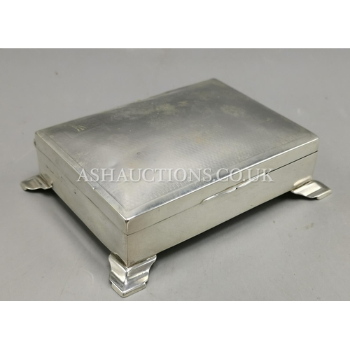 2 - PRESENTED AS A SILVER (Fully Hallmarked) CIGARETTE BOX...