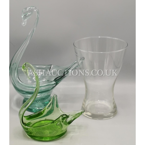 45A - GLASS ITEMS (3)...