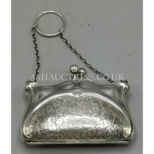 7 - PRESENTED AS A SILVER (Fully Hallmarked) LADIES PURSE...