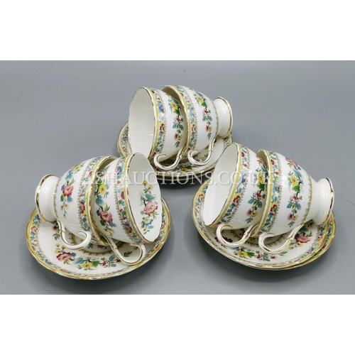 2 - FOLEY CHINA CUPS & SAUCERS (6) IN THE MING ROSE DESIGN...
