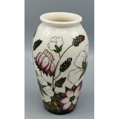 35 - MOORCROFT VASE IN THE BRAMBLE REVISITED DESIGN Designed By Alicia Amison.  (Alicia  re-imagined Bram...