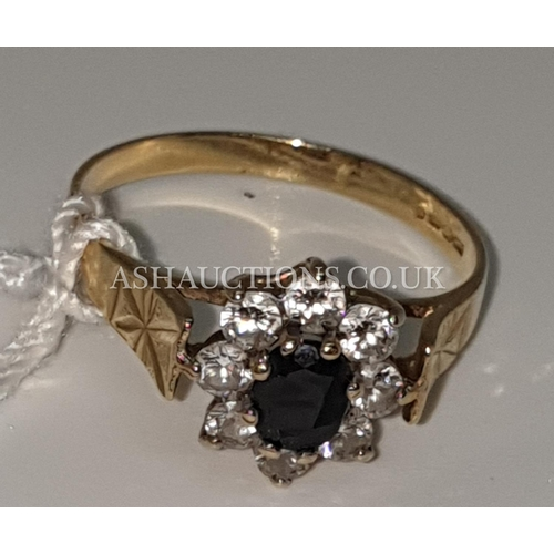 35A - PRESENTED AS A 9ct GOLD (375) (Hallmarked For Birmingham) CZ STONE SET RING ( Weight 1.9 Gram Size P...