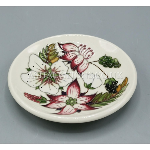 36 - MOORCROFT PIN TRAY IN THE BRAMBLE REVISITED DESIGN Designed By Alicia Amison.  (Alicia  re-imagined ...