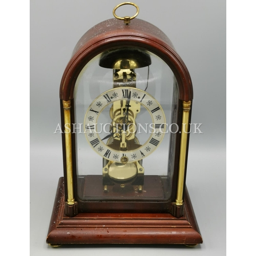 41 - WEST GERMAN HERMLE SKELETON CLOCK (Please Note This Lot WILL NOT BE POSTED...PICK UP ONLY!!!)...