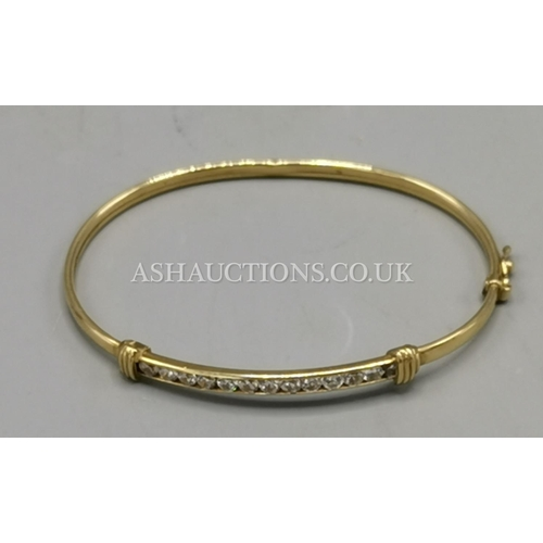 46 - PRESENTED AS A 9ct GOLD STONE SET BRACELET...