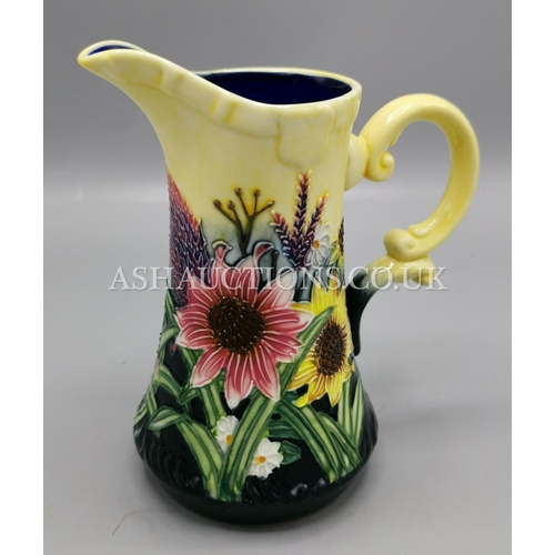 11 - OLD TUPTON WARE TUBELINED 15cm JUG IN THE SUMMER BOUQUET DESIGN (TW1145)....