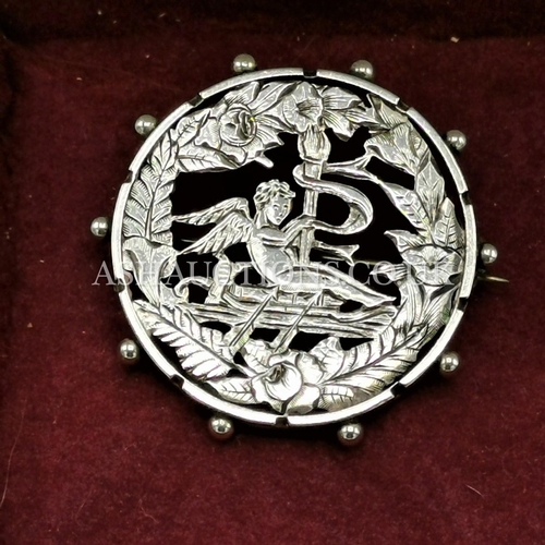 13 - PRESENTED AS A SILVER VICTORIAN BROOCH  (Fully Hallmarked)....