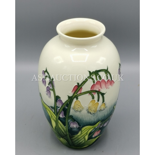 16 - OLD TUPTON WARE 20cm TUBELINED  VASE (1207) IN THE LILY OF THE VALLEY DESIGN....