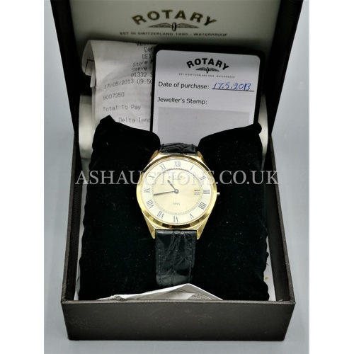 30 - PRESENTED AS A ROTARY WATCH (Original Box & Certificate And Receipt Of Sale)....