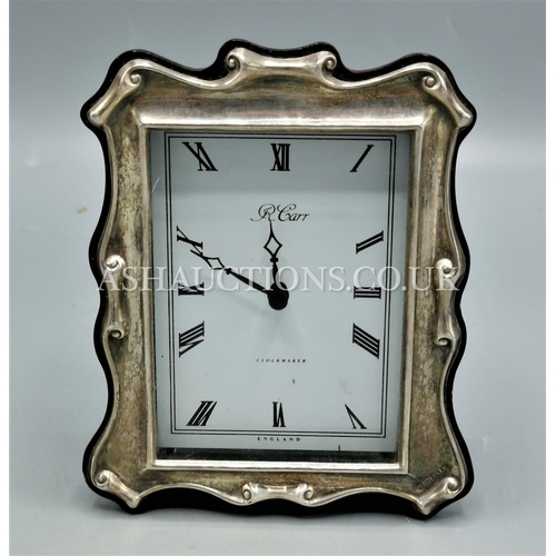 34 - PRESENTED AS A SILVER (Hallmarked) CLOCK....