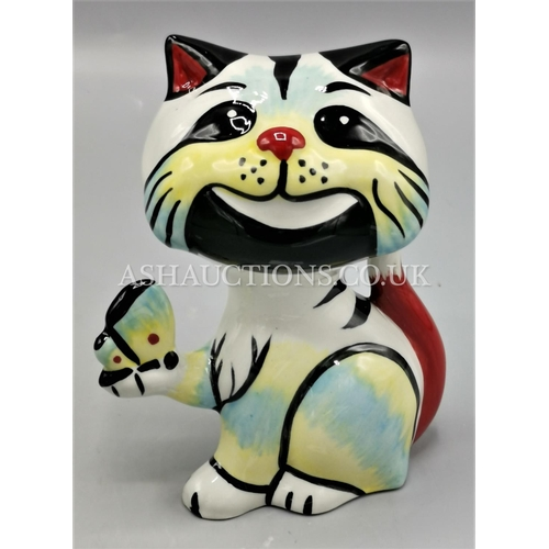 35 - LORNA BAILEY MODEL OF A CAT Signed By Lorna Bailey....
