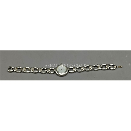 8 - PRESENTED AS AN ACCURIST SOLID SILVER (925) LADIES WRISTWATCH (Stamp On Both Watch And Bracelet) (We...