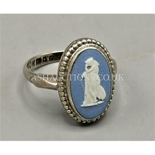 10 - PRESENTED AS A SILVER (Hallmarked) RING Inset With WEDGWOOD CAMEO (With Faults) (Boxed)...