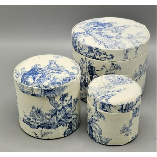 105 - TRIO Of CONTAINERS TRADITIONAL BLUE & WHITE...