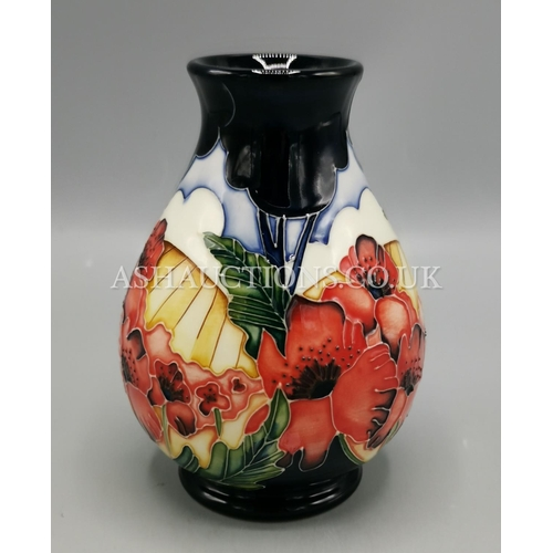 16 - MOORCROFT 12.7cm VASE (Shape No 7/5). IN THE FOREVER ENGLAND DESIGN By Designer Vicky Lovatt. R.R.P....