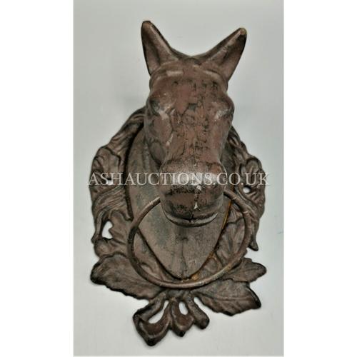29 - CAST IRON Large HORSE DOOR KNOCKER...