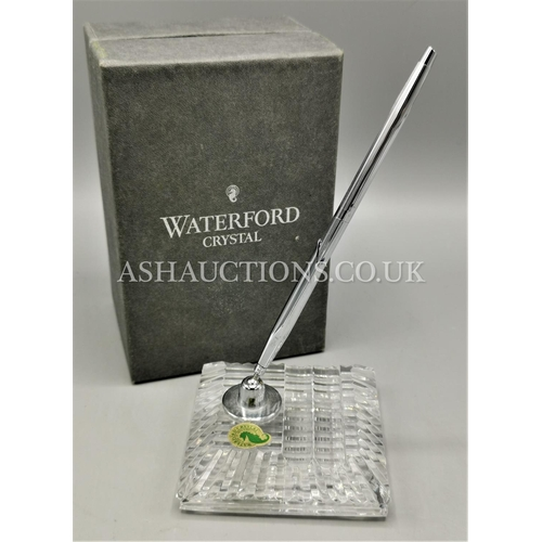 34 - WATERFORD CRYSTAL DESK TIDY (OriginaL Box)...