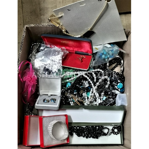 36 - BOX CONTAINING A Qty Of COSTUME JEWELLERY (Please Note this Lot WILL NOT BE PACKED OR POSTED...PICK ...