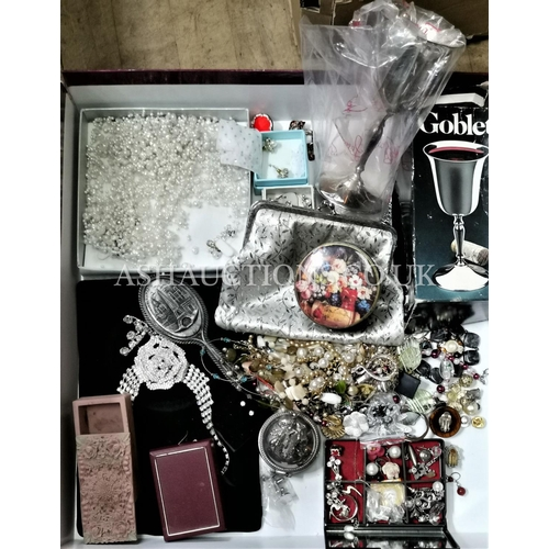 38 - BOX CONTAINING A Qty Of COSTUME JEWELLERY  (Please Note this Lot WILL NOT BE PACKED OR POSTED...PICK...