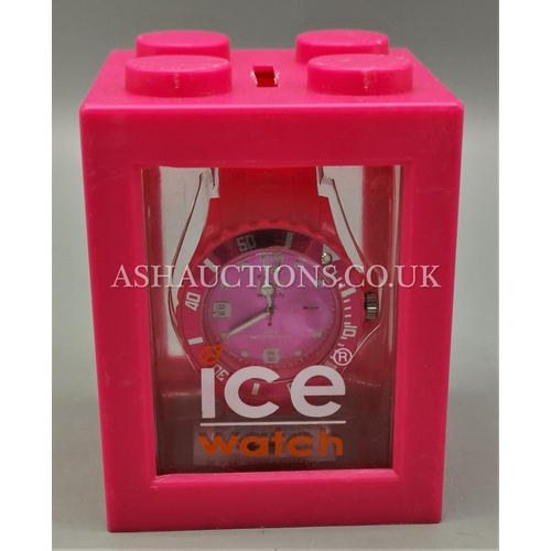 41 - PRESENTED AS A ICE LADIES PINK WATCH (OriginaL Box...