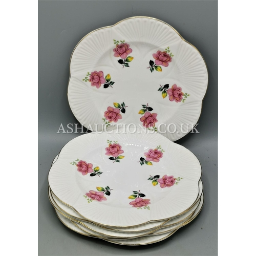 43 - SHELLEY 20cm Dia PLATES (6) IN THE ROSE DESIGN...