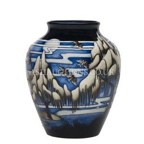 50A - MOORCROFT Large 23cm VASE (Shape No 216/8) IN THE WEEPING WILLOW DESIGN By Designer Helen Dale. Limi...