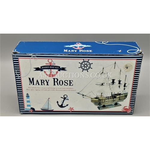 537 - MARY ROSE WOODEN BOAT KIT...