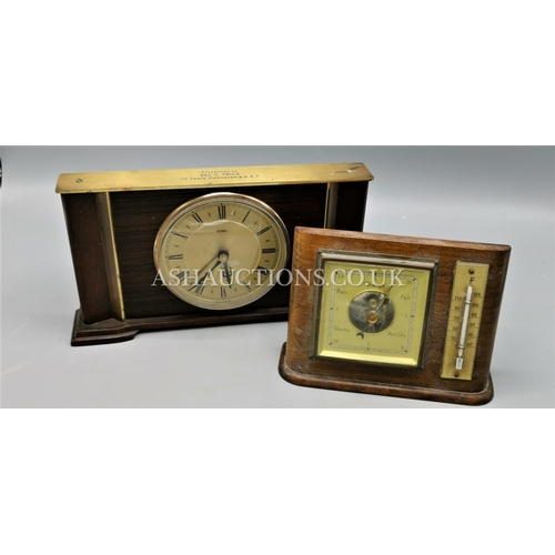 577 - METEMEC MANTLE CLOCK & BAROMETER. (Please Note this Lot WILL NOT BE PACKED OR POSTED...PICK UP ONLY ...