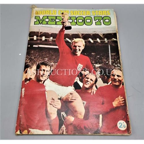598 - 1970 MEXICO WORLD CUP STICKER BOOK...