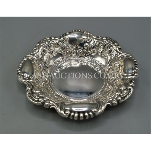 63 - PRESENTED AS A SILVER BON BON DISH (Hallmarked For Sheffield 1897)...