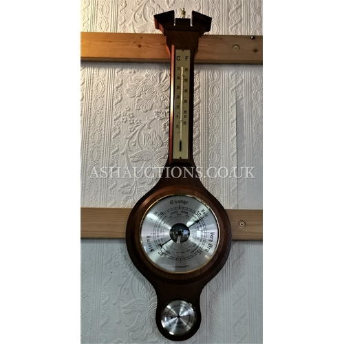 66 - WOODEN CASED WALL MOUNTED BAROMETER  (Please Note this Lot WILL NOT BE PACKED OR POSTED...PICK UP ON...
