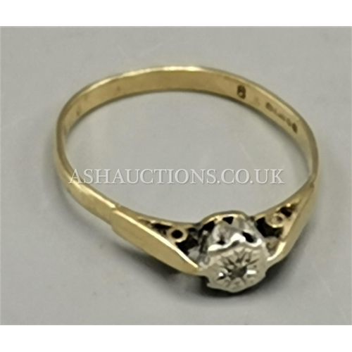 73 - PRESENTED AS A 9ct GOLD STONE SET RING...