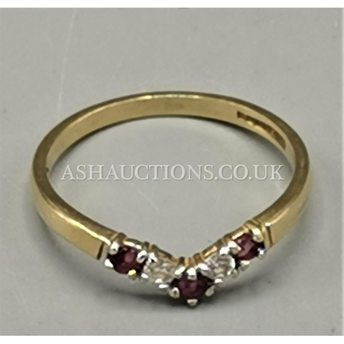 78 - PRESENTED AS A 9ct GOLD TRI STONE SET RING...