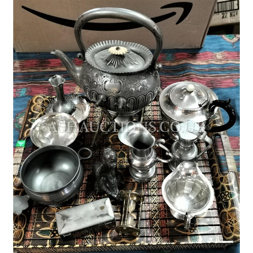 8 - TRAY CONTAINING A Qty Of PLATED WARE  (Please Note this Lot WILL NOT BE PACKED OR POSTED...PICK UP O...
