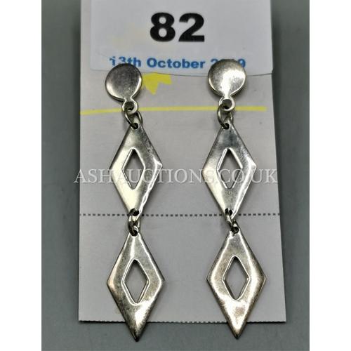 82 - SILVER (925) LADIES EARRINGS...